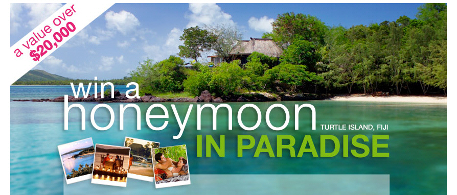 Would You Like To Win A Turtle Island Honeymoon