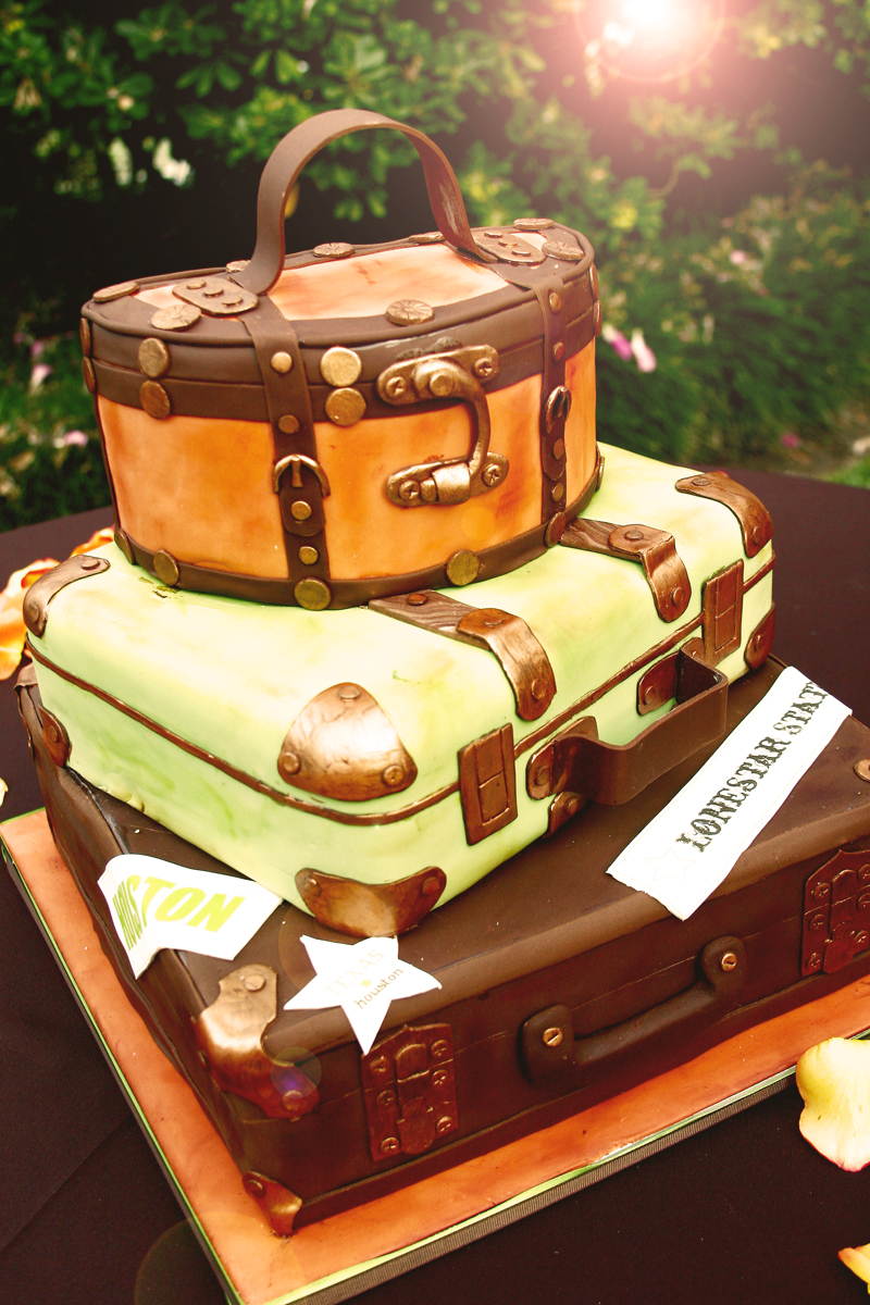 Stacked Suitcase Cake