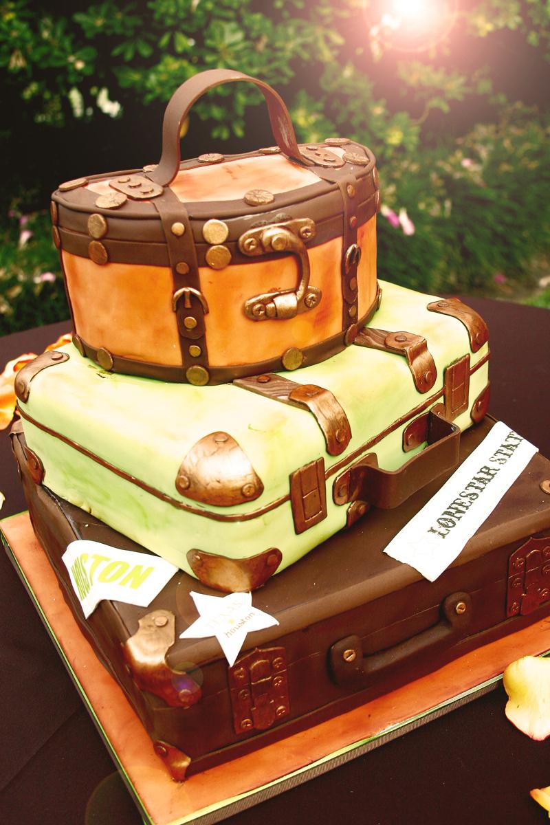 Stacked Suitcase Cake