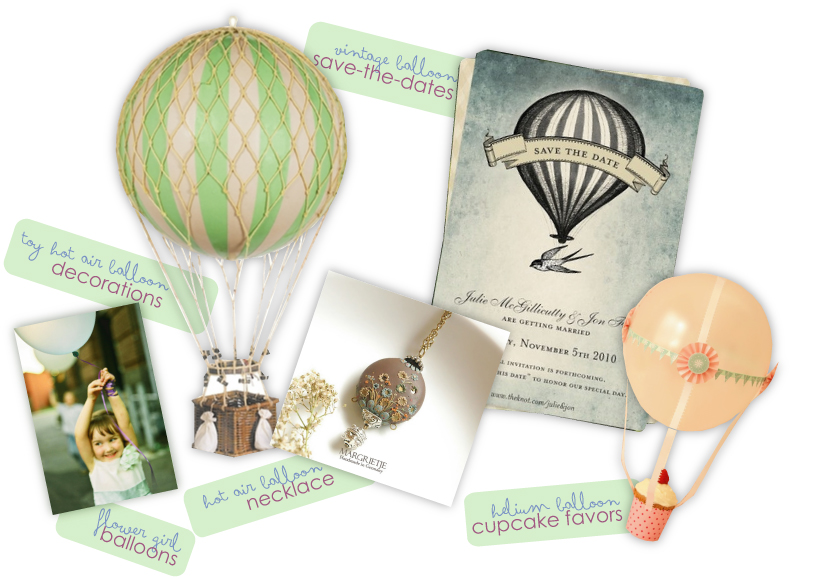 Themed Up Thursday Whimsical Hot Air Balloon Themed Wedding