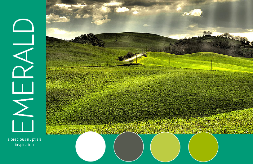 emerald 2013 color of the year wedding palette inspiration seven