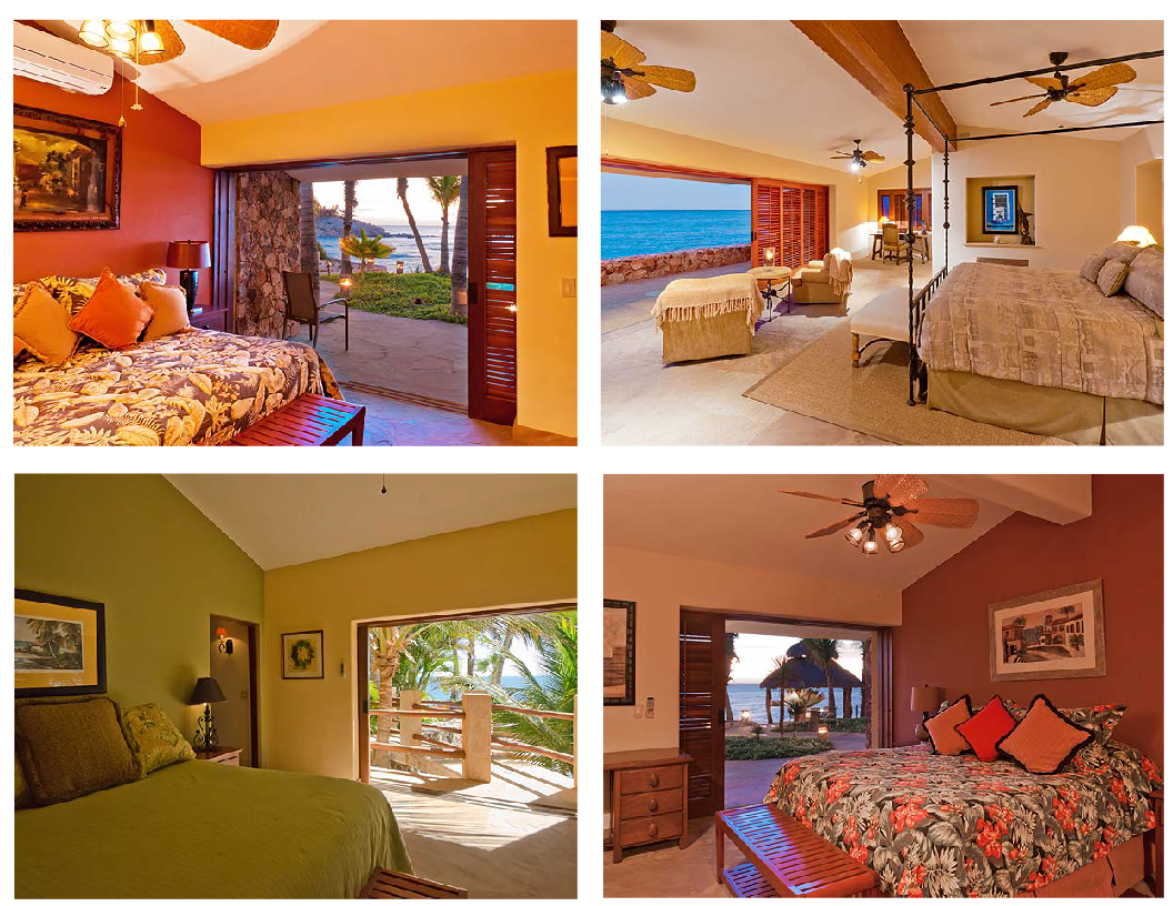 Honeymoon and Destination Wedding Locations : Villa Cielito Bedrooms