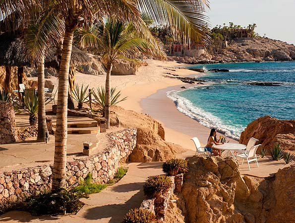 Private beach at Villa Cielito Los Cabos