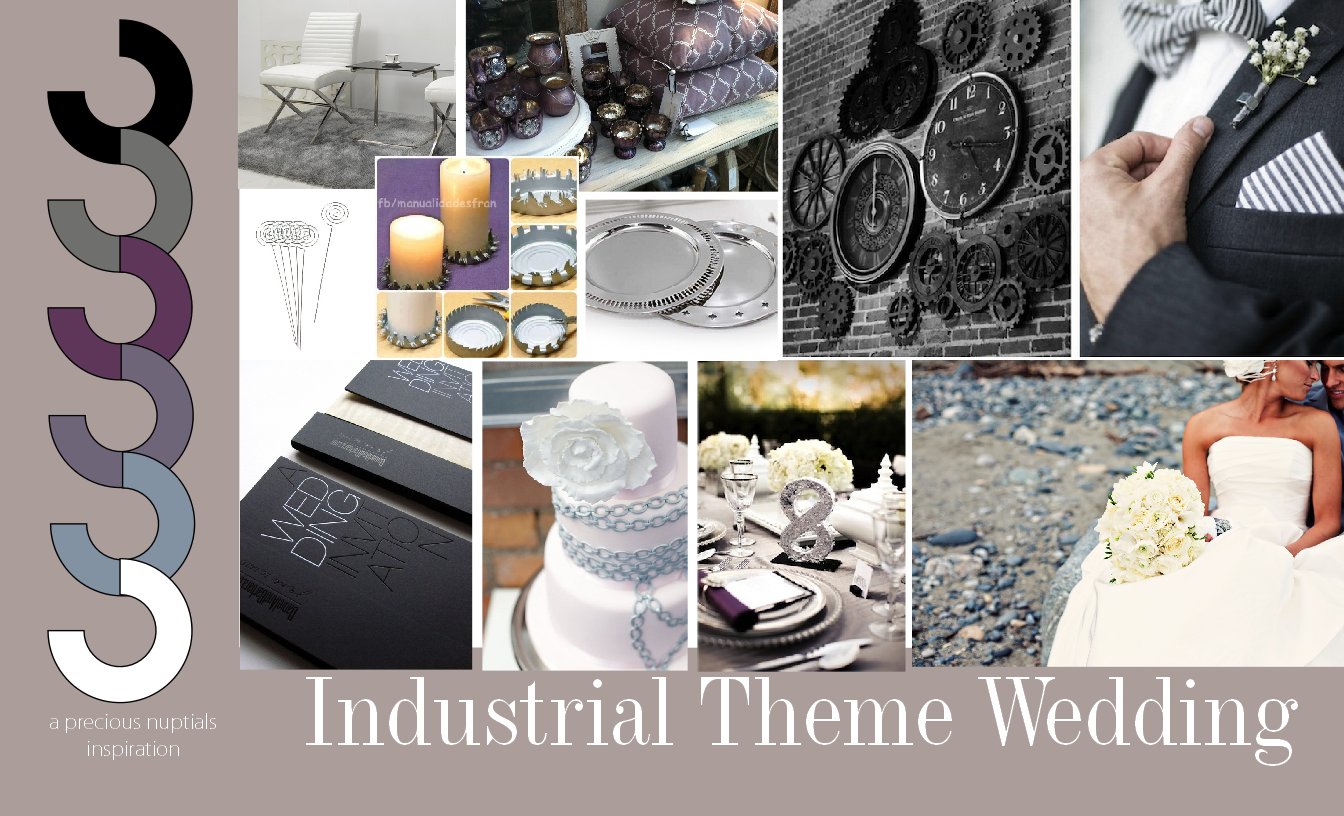 Wedding Theme Idea : Industrial Wedding Theme