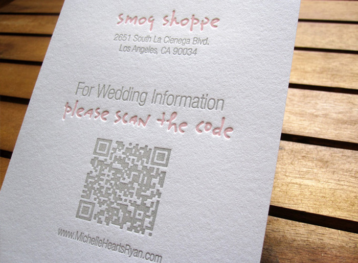 QR Code Makes Its Way To Your Wedding Invitation Insert