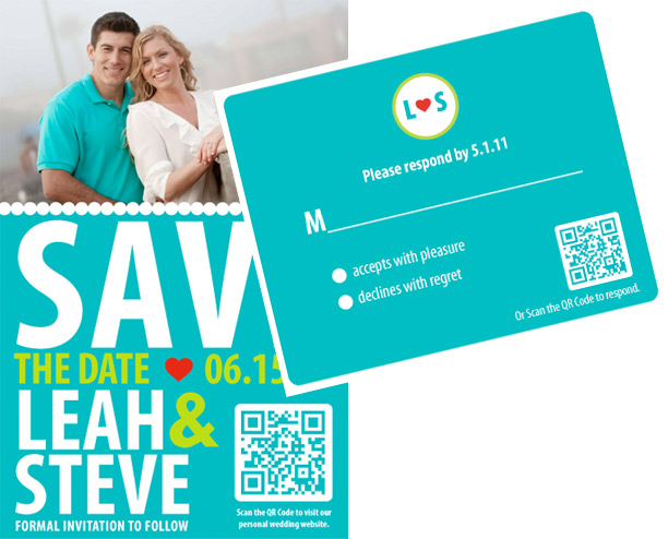 QR Code Makes Its Way to Your Wedding Save the Date