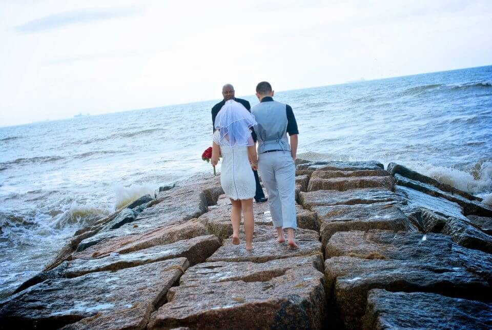 Elope on a jetty in galveston random stuff for location for Texas beach wedding packages